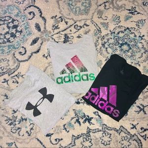 Workout shirt bundle. Adidas & Under Armour